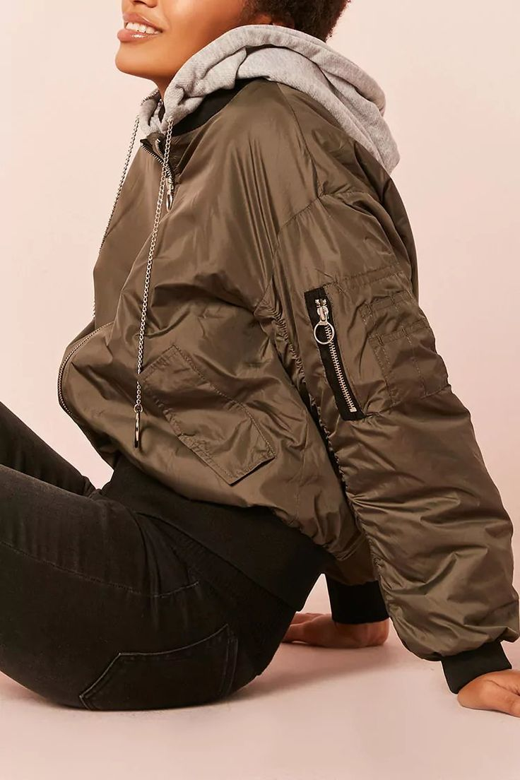 Product Name:Hooded Bomber Jacket, Category:outerwear_coats-and-jackets, Price:37.9