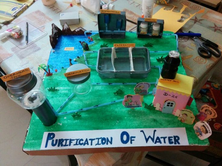 Science model on purification of water