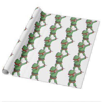 Dab Santa Elf Funny Novelty Christmas Gift Items Wrapping Paper - christmas wrappingpaper xmas diy holiday