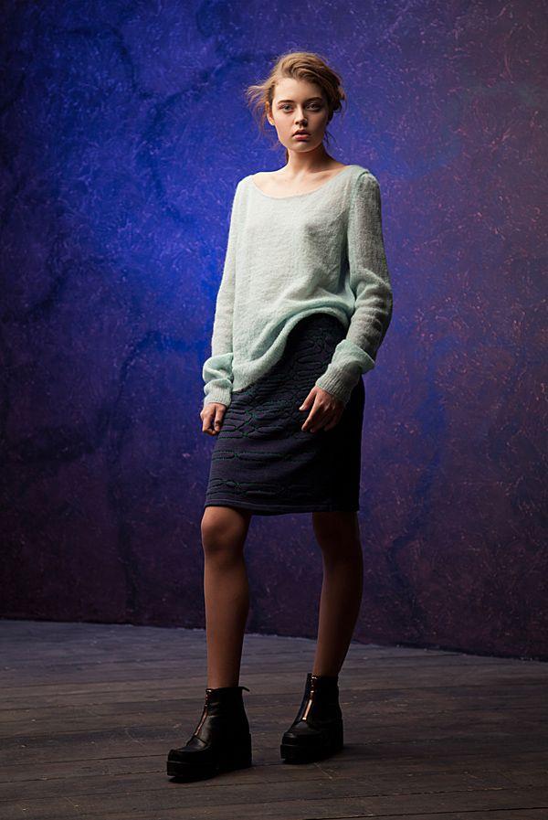 Lookbook fall-winter 2014-15. Knitted skirt - 160$ #25twentyfive25 #knitwear #jumper #skirt #fashion