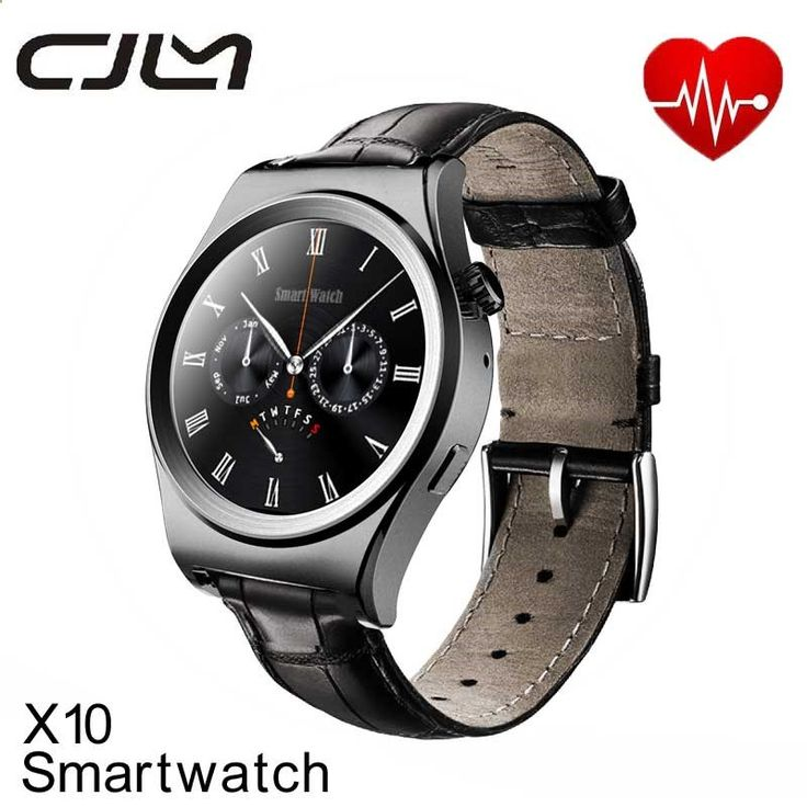 Smartwatch X10 Smart Watch Bluetooth Heart Rate Monitor Sports Health Rounded Waterproof Smartwatches For Iphone Android Phone