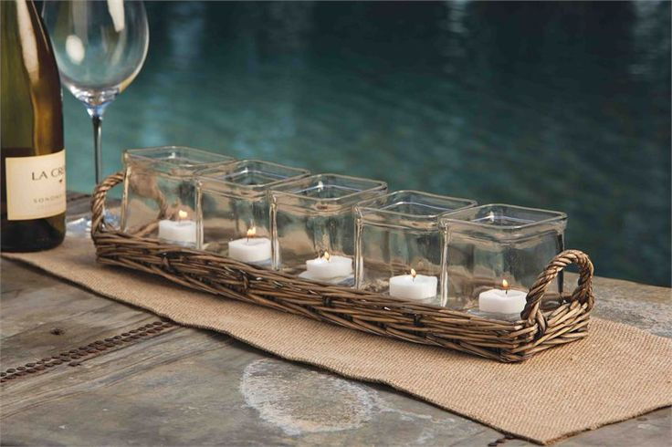 Wicker Tealight Votive Set | The Art of Home $34.95 | 1 Requested | 0 Purchased