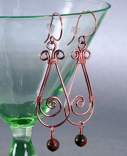 Copper & Unakite Harvest Swirl Earrings