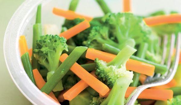 brocolis, carottes, haricots verts Vapeur
