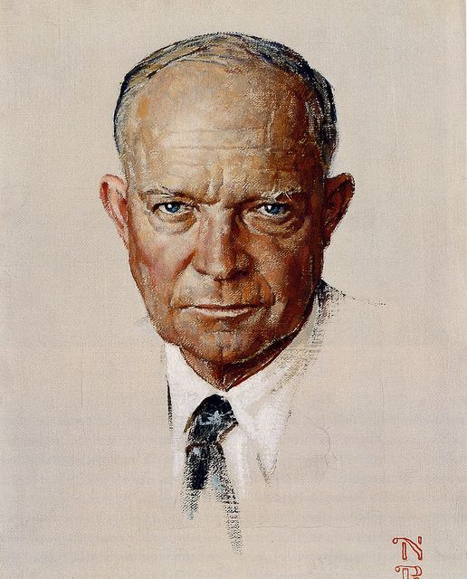 President Eisenhower- Norman Rockwell by x-ray delta one, via Flickr