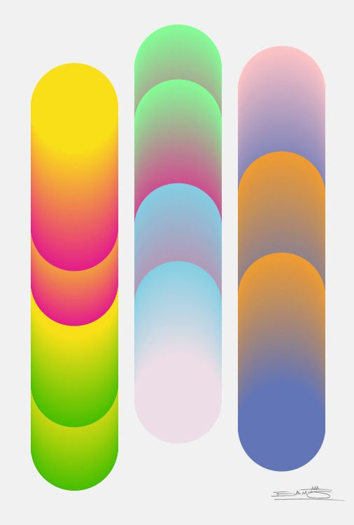 Eamon Donnelly & The Island Continent / Cylindrical Colour Series 3 #design #print #gradient