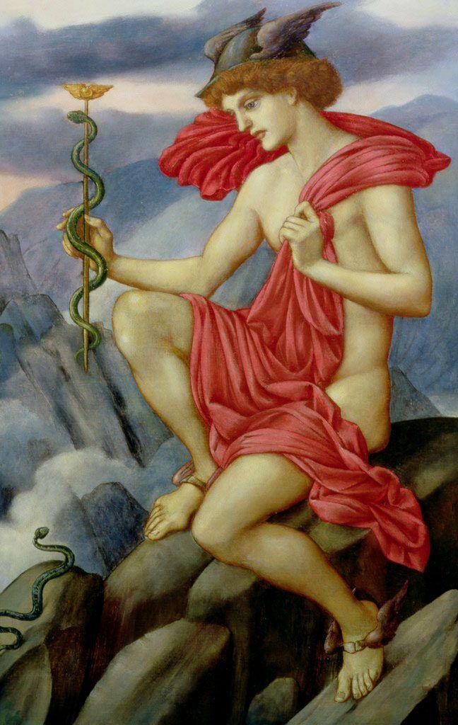 """Evelyn de Morgan  (British, 1855–1919), """"Mercury"""":"""