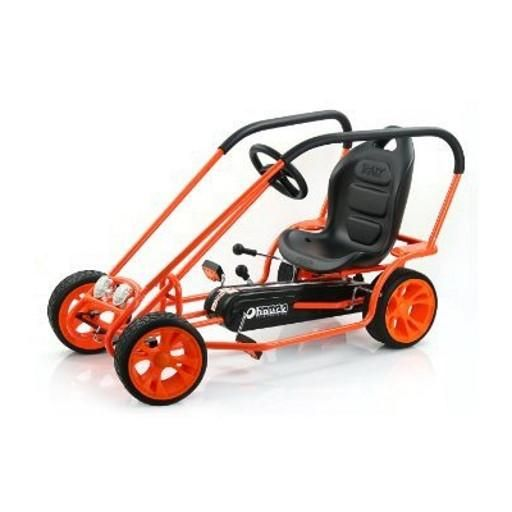 Authorized Retailer of Hauck Lightning Go Kart Thunder II NO TAX and FREE SAME-DAY INSURED SHIPPING! Shop at BuyBabyBuggies.com for go karts and other toys.