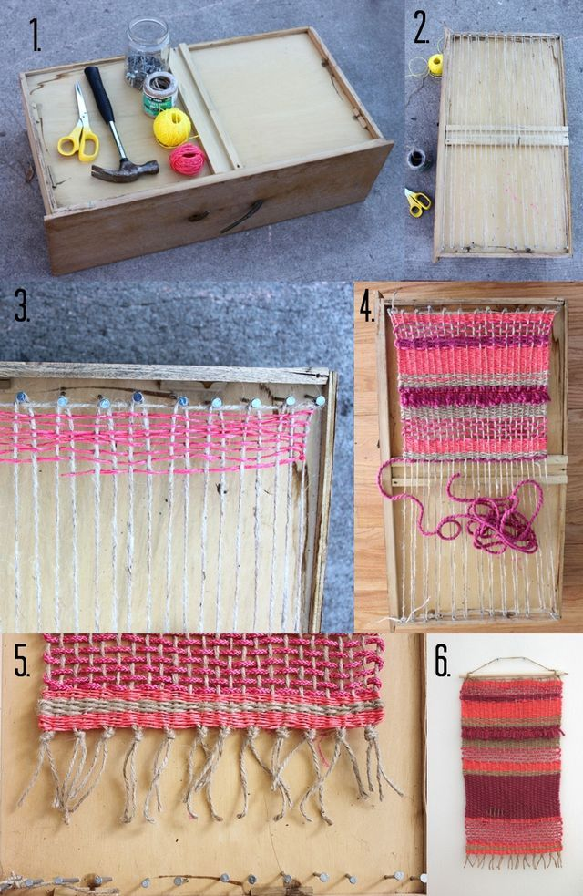 DIY Woven Wall Hanging Steps