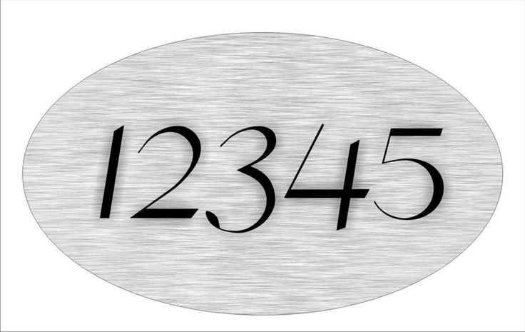 Personalized House Address Sign Plaque All Aluminum Great Gift Brushed Metal 1