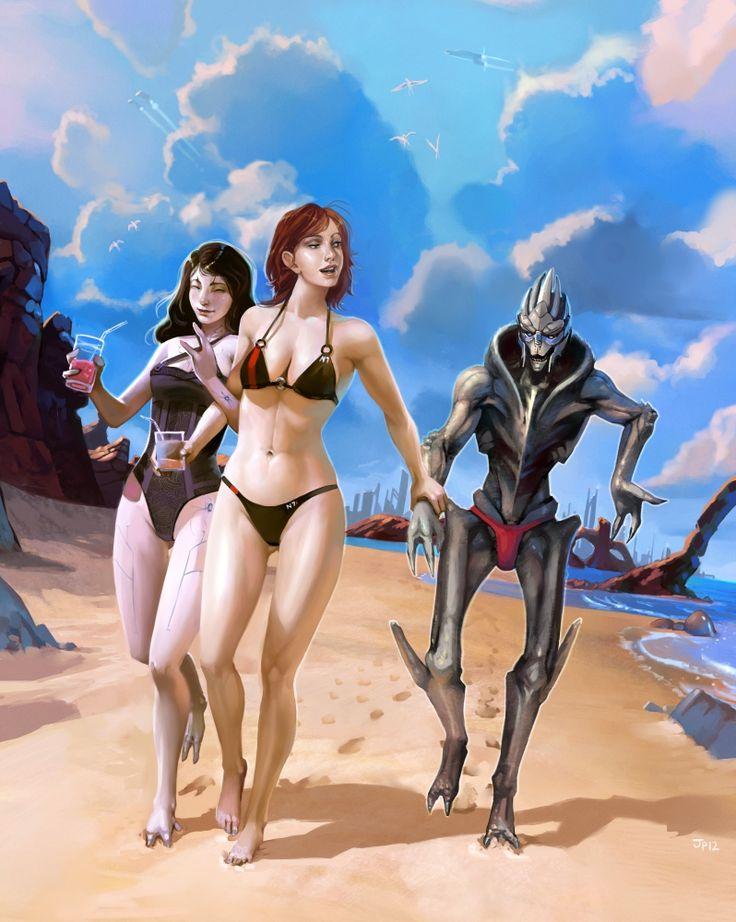 Team Shepard Goes To The Beach by OchreJelly.deviantart.com on @deviantART