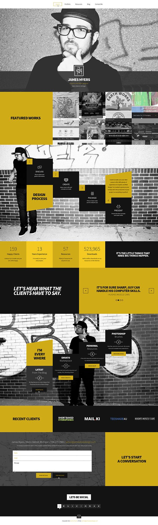 Unique Web Design, James Myers via @kanioris #WebDesign #Design