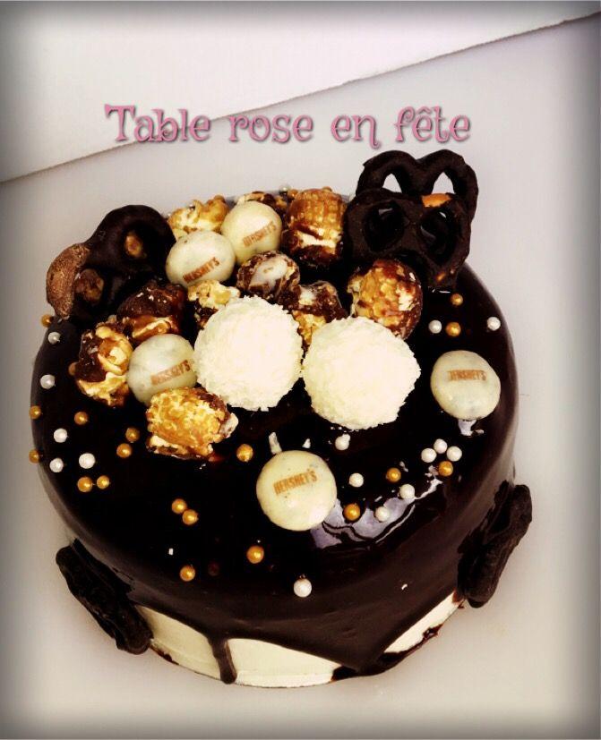 Drip cake party choco