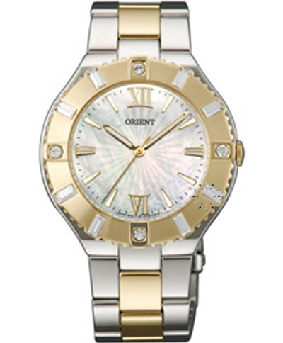 ORIENT Crystal Ladies Two Tone Stainless Steel Bracelet  Τιμή: 237€  http://www.oroloi.gr/product_info.php?products_id=31099