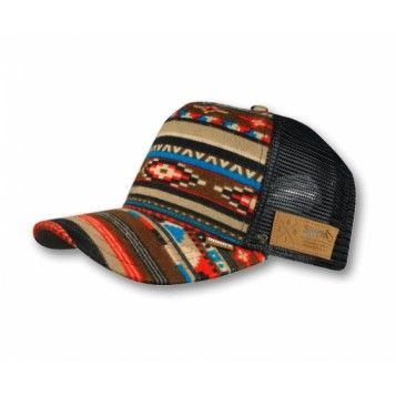 Djinns HFT Trucker Cap Aztec black - Caps - Djinns - Brands