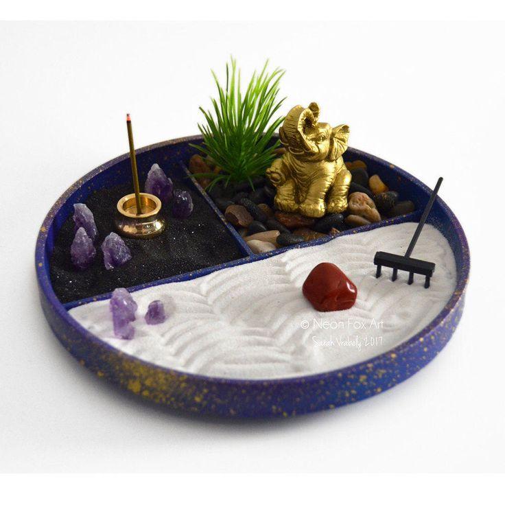 Mini Zen Garden // Elephant Statue // Incense Burner // Crystals // Amethyst Gemstone //DIY Kit // Feng Shui // Housewarming Gift // DIY Kit by ZenFoxStudio on Etsy https://www.etsy.com/au/listing/516742521/mini-zen-garden-elephant-statue-incense