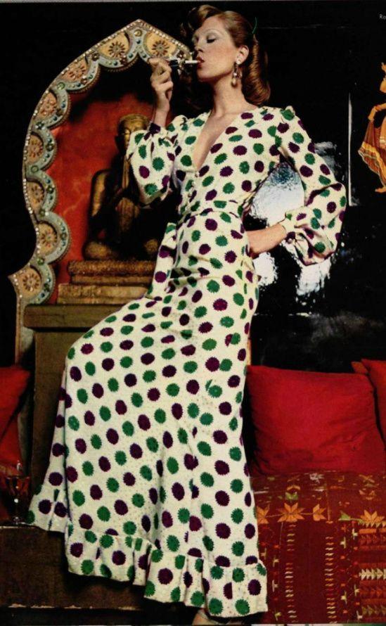 70s glam, Yves Saint Laurent 1973