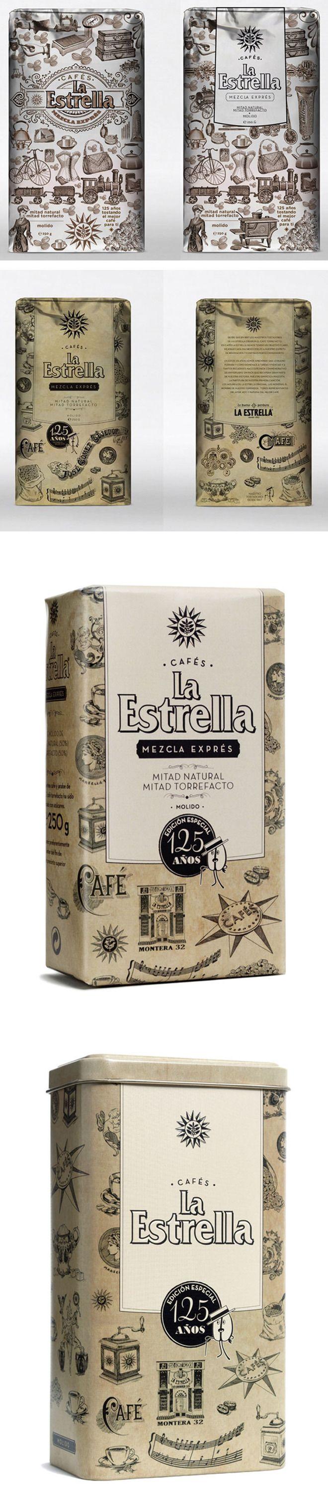 La Estrella 125th Anniversary #black #white #packaging