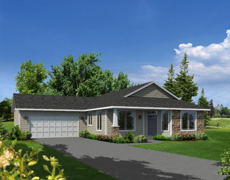 10 best small house plans with attached garages images on for Hiline homes plans