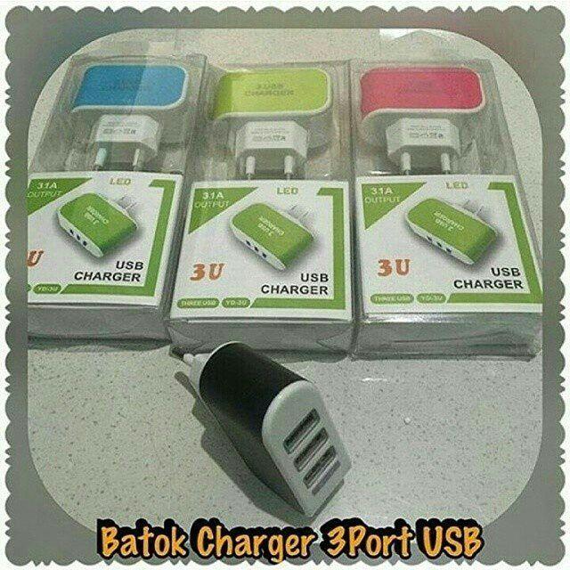 USB Charger 3 Output  Spesifikasi : Tiga USB steker mengisi tiga ponsel secara bersamaan Ideal untuk perjalanan rumah dan kantor Ukuran saku ringan bisa dibawa kemana saja Untuk menggunakannya dengan perangkat usb cukup menghubungkan dengan kabel usb untuk perangkat kamu mudah digunakan.  Harga : Rp 52.000  Order  Line : @ jakartakomputer (PAKAI @ YA) Whatsapp : 087878775832 Bbm : 5B04D5EyF  #charger #usbcharger #batokcharger #usbcharger3output # #batokcharger3output #jktkom #JakartaKomputer…