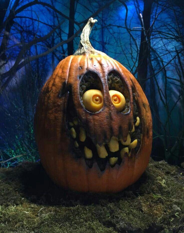 halloween pumpkin art ideas Halloween kürbis deko