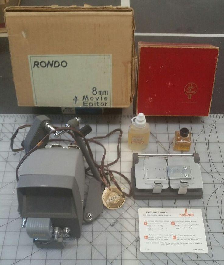8mm movie film editor made in Japan Bolex railroad L8 Splice Made in Switzerland