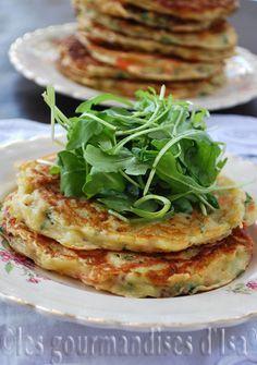 Pancakes de ricotta au saumon fumé