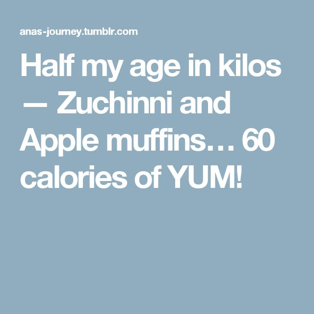 Half my age in kilos — Zuchinni and Apple muffins…  60 calories of YUM!