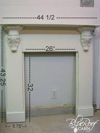 Build A Fireplace Mantel And Surround Site Pinterest Com