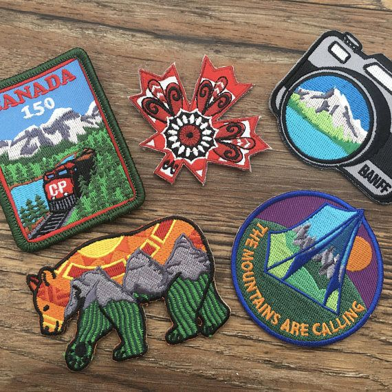 Banff Camera  Embroidered Patch  Iron On  Travel