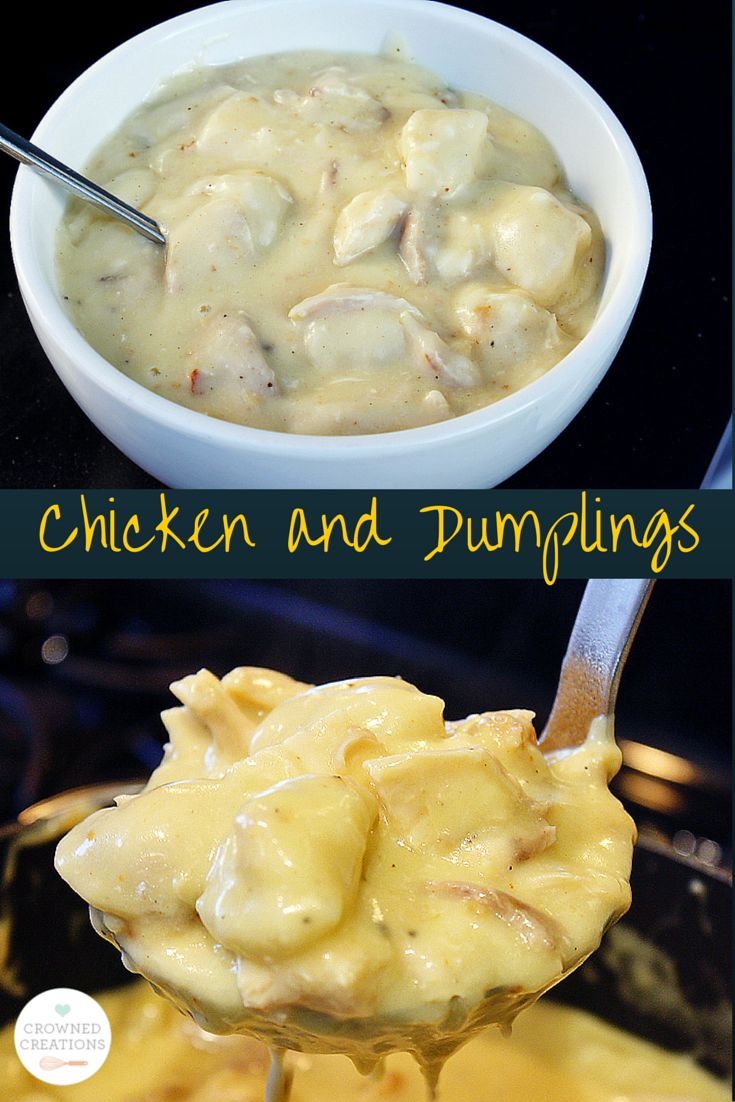 Chicken and Dumplings - Super easy!