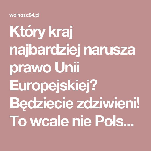 Który kraj najbardziej narusza prawo Unii Europejskiej? Będziecie zdziwieni! To wcale nie Polska, a wyprzedzają nas nawet Niemcy [RANKING] | Wolnosc24