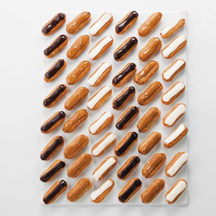 MINI ECLAIRS 48 pièces sucrées - café - chocolat - vanille