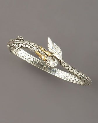 Slim Naga Dragon Cuff by John Hardy at Neiman Marcus.