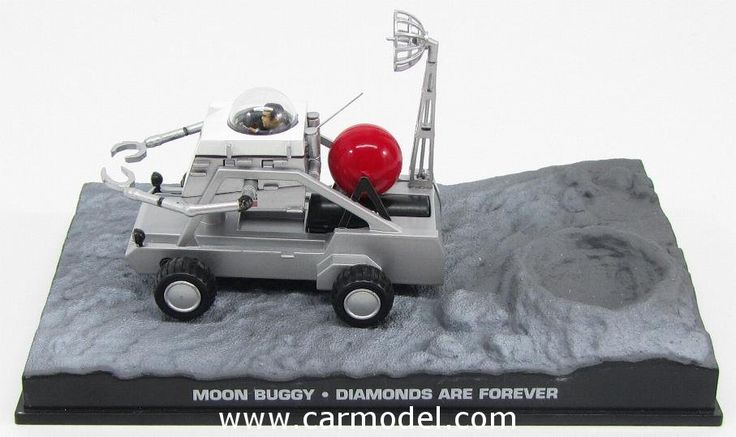 EDICOLA BONDCOL031 1/43 007 MOON BUGGY 1971- JAMES BOND 007 - DIAMONS ARE FOREVER Skala:: 1/43Zustand: MCode: BONDCOL031Farbe: SILVERMaterial: Die-Cast  Anmerkung: JAMES BOND 007 DIORAMA COLLECTION - TV SERIES