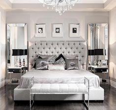 Glamorous bedroom decor via @stallonemedia                                                                                                                                                                                 More