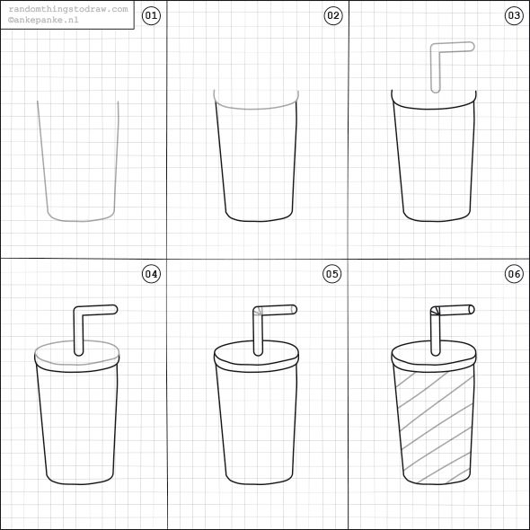 How to draw a milkshake.