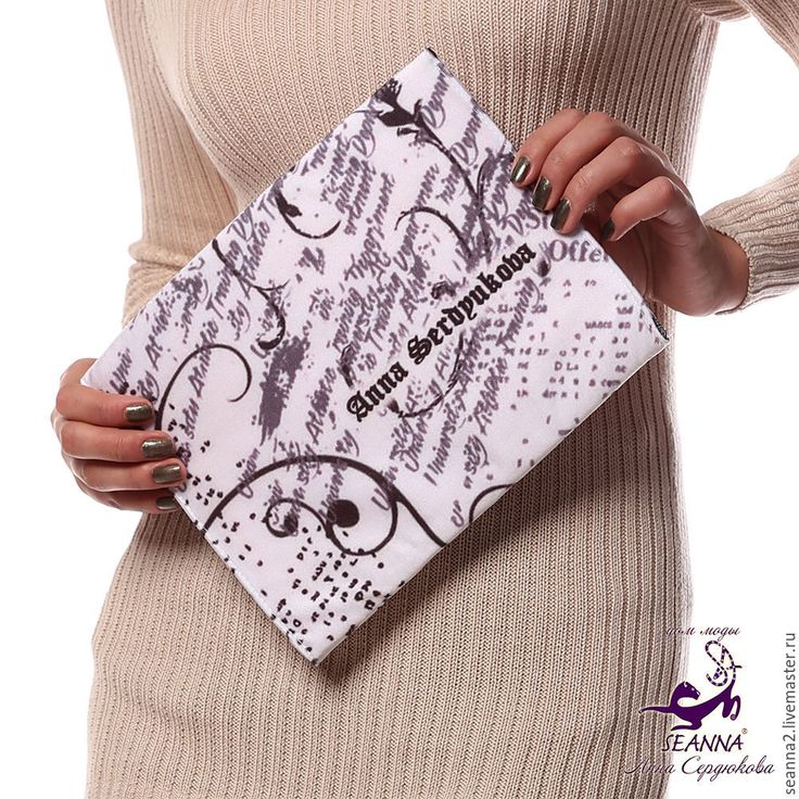 """Купить Клатч - сумочка из ткани с авторским принтом """"Ретро Газеты SEANNA""""…"""