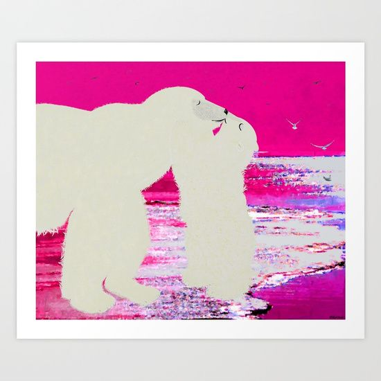 Collect your choice of gallery quality Giclée, or fine art prints custom trimmed by hand in a variety of sizes with a white border for framing.    https://society6.com/product/kissing-mama_print?curator=listenleemarie