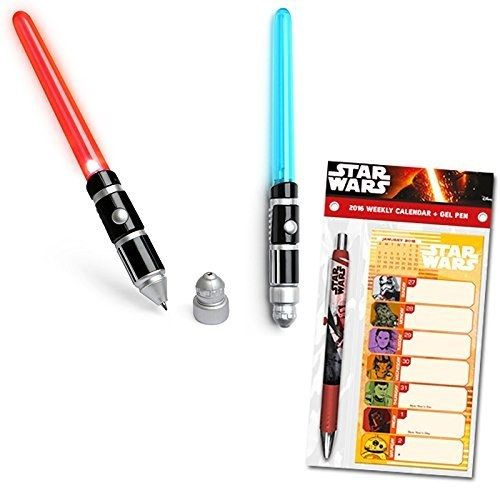 Lightsaber pens that light up so you can reduce the pain of writing your rent check (and general adulthood).