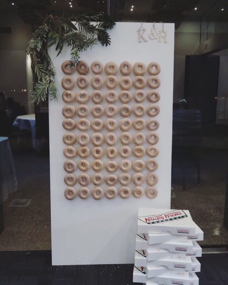 """31 Likes, 4 Comments - Dashi & Co (@dashi.co) on Instagram: """"Our donut wall which holds 70 donuts 🍩"""""""