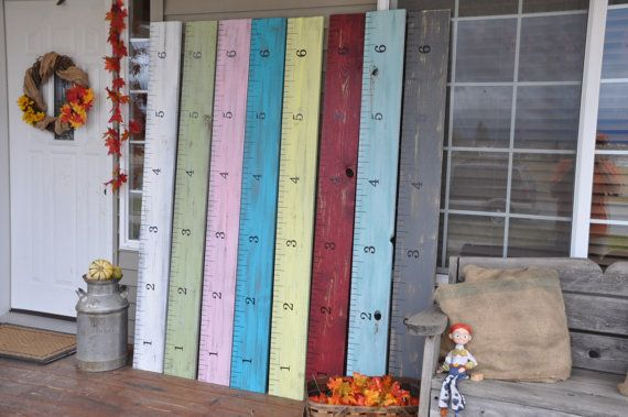 2700 Sold Life-size growth chart rulers for by KeepsakeRulers. Love the distressed ones. Now what color; red, teal or grey?