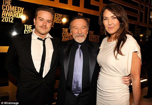 Family: Zachary Pym Williams, Robin Williams and Susan Schneider attend The Comedy Awards ...