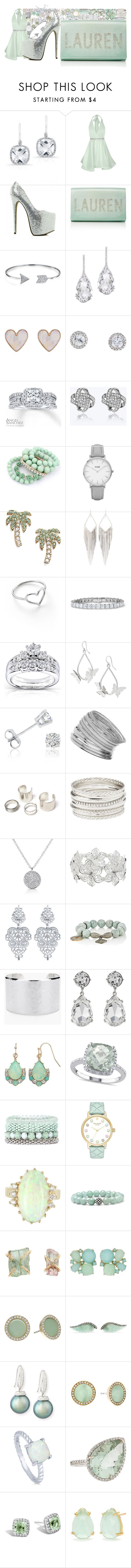 """""""Untitled #3670"""" by brooke-evans12 ❤ liked on Polyvore featuring Anne Sisteron, Alice + Olivia, Preciously, Bling Jewelry, Plukka, New Look, Angel Sanchez, Topshop, Kate Spade and Jules Smith"""