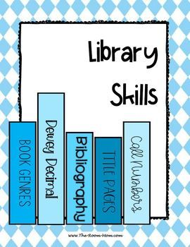 Library skills practice for book genre, Dewey decimal system, and bibliographies (MLA format)