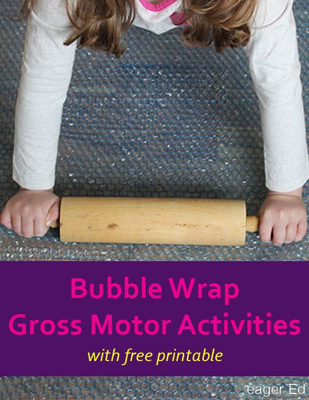 G is for Gross Motor Activities with Bubble Wrap | We guest post on The Inspired Treehouse and explore new ways to use bubble wrap. | eager Ed