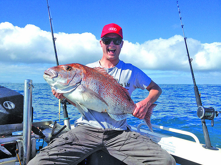 Somewhere near Raglan this magnificent snapper was caught.