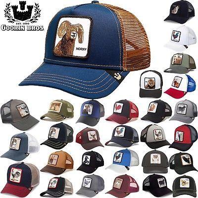 800d9d21c098c GOORIN BROS TRUCKER Hat Snapback Cat Animal Farm All American Rooster Donkey