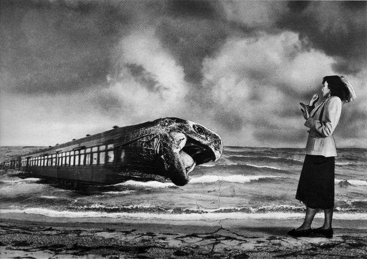 En el andén (Sueño Nº 2), photo montage on paper, 19 x 28 cm - Grete Stern, 1949