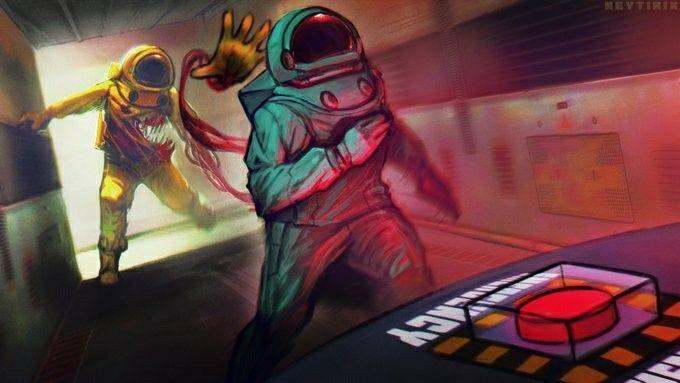 Among Us In 2021 Horror Art Digital Artist Artist